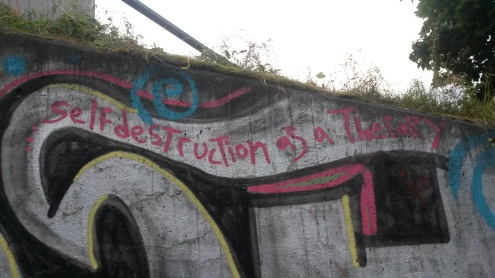 Self Destruction as Therapy (Graffiti) 2014