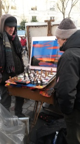 Artists Playing Chess, Paris 2015