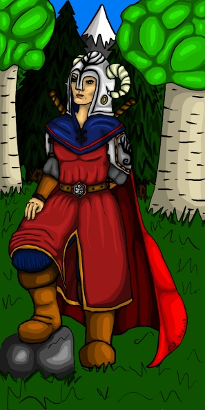 "My character ""Kalla Sensommar"" for a Trudvang RPG chronicle I was in a couple of years ago."