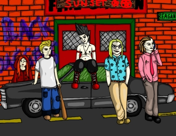 A group pic of the characters in an old Vampire: The Requiem RPG setting. A birthday present for my ex-husband.